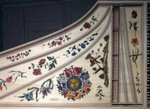 Clavecin - table d'harmonie décorée