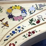 rosace peinte table d'harmonie clavecin