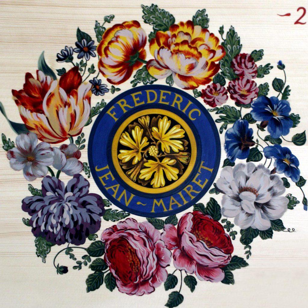 table d'harmonier de clavecin peinte