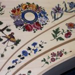Decoration table d'harmonie clavecin