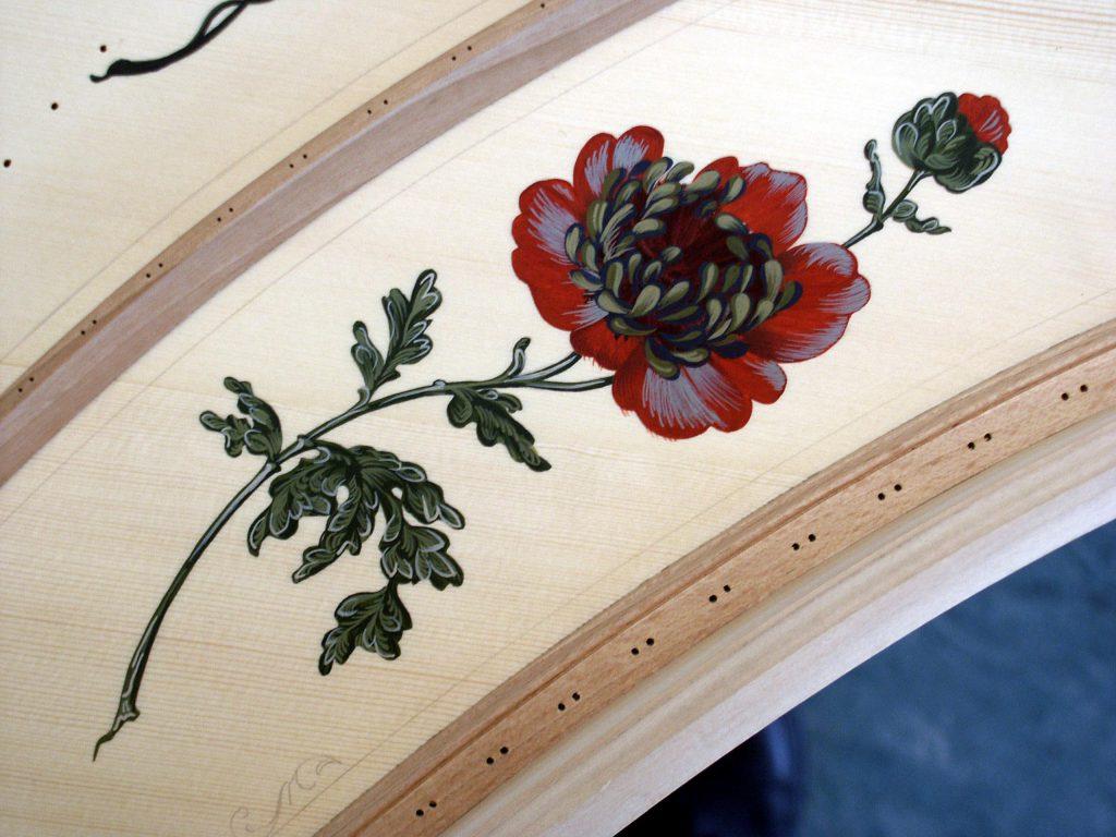 Decor table d'harmonie clavecin